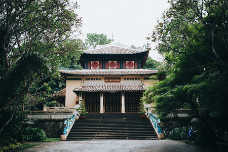 beautiful traditional oriental architecture in Ho Chi Minh, Vietnam