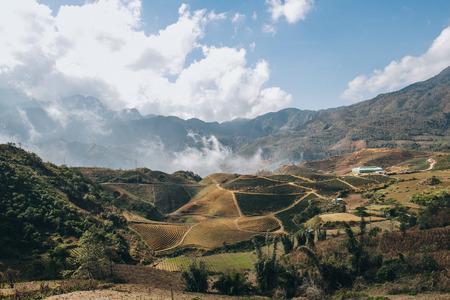beautiful mountain landscape in Sa Pa, Vietnam Stockfoto