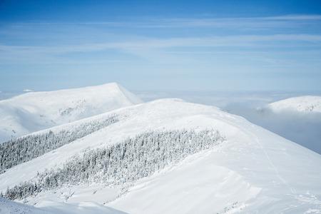 Breathtaking landscape of winter Gorgany mountains