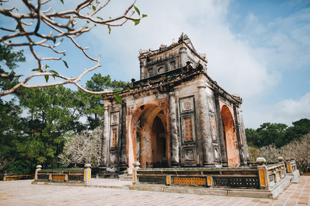 Traditional ancient building in Hue, Vietnam