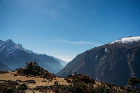 building on mountain, Nepal, Sagarmatha, November 2014 Stock Photo - 111950633
