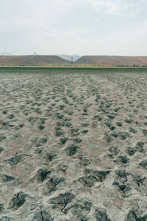 Dry ground in mountainous area of Crimea, Ukraine, May 2013 Imagens - 111951138