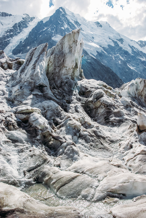 amazing view of mountains landscape with snow, Russian Federation, Caucasus, July 2012 版權商用圖片
