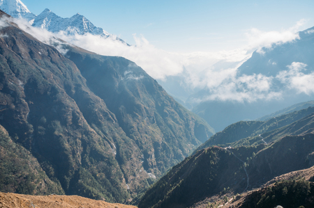 amazing mountains landscape, Nepal, Sagarmatha, November 2014 Stock Photo - 111951441
