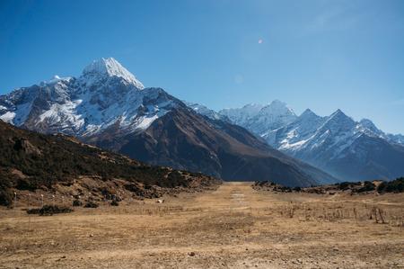 amazing snowy mountains landscape, Nepal, Sagarmatha, November 2014 Stock Photo - 111953051