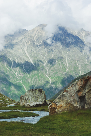 amazing view of mountains landscape, Russian Federation, Caucasus, July 2012