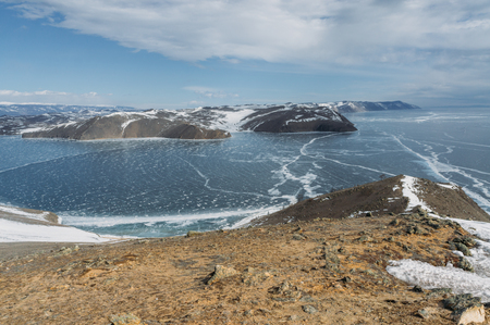 Winter landscape with Lake Baikal, Russia