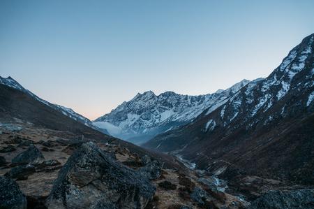 amazing snowy mountains landscape, Nepal, Sagarmatha, November 2014 Stock Photo - 111977710