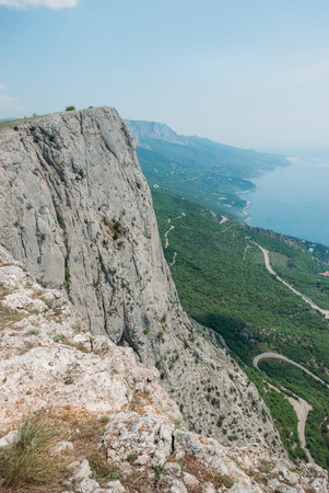beautiful scenic view of mountains in Ukraine, Crimea, may 2013
