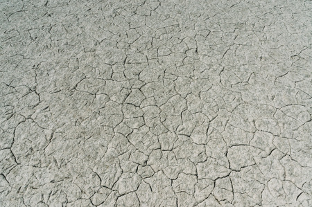 Dry soil with deep cracks, Crimea, Ukraine, May 2013 Stock Photo
