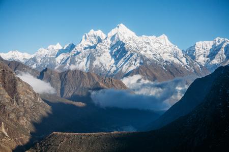 amazing snowy mountains landscape, Nepal, Sagarmatha, November 2014 Stock Photo - 111986087
