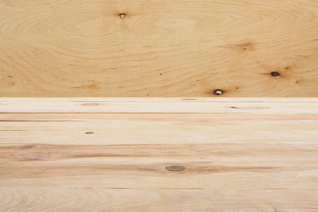 template of beige wooden floor on plywood background Reklamní fotografie