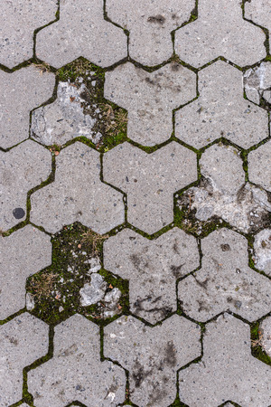 full frame image of paving stone path background Stock fotó