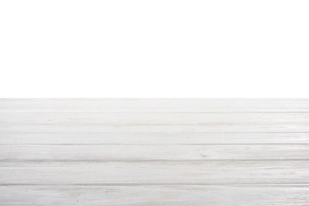 template of white wooden floor on white background