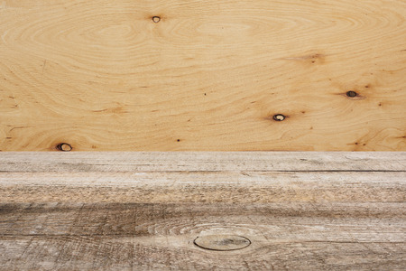 template of brown wooden floor with plywood on background