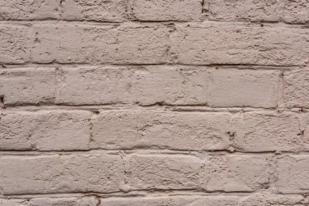 full frame image of white brick wall background Stock Photo