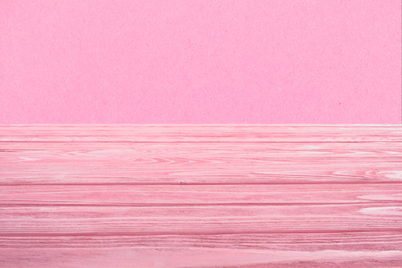 template of pink wooden floor with pink background