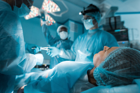 patient lying on operating table during surgery Reklamní fotografie
