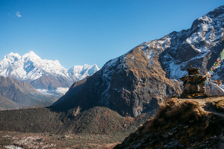amazing snowy mountains landscape, Nepal, Sagarmatha, November 2014 Stock Photo - 112740284