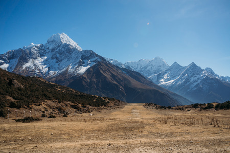 amazing snowy mountains landscape, Nepal, Sagarmatha, November 2014