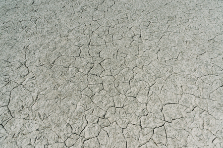 Dry soil with deep cracks, Crimea, Ukraine, May 2013 Stock Photo