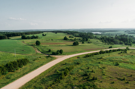 Beautiful summer landscape of Kreva, Grodno Region, Belarus Imagens
