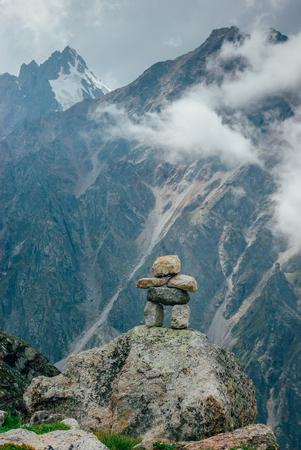 Stones architecture in mountains Russian Federation, Caucasus. 版權商用圖片