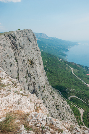 Beautiful scenic view of mountains in Ukraine, Crimea. Stock Photo