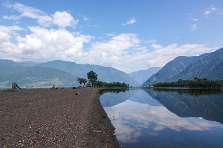 Beautiful landscape view of mountains and lake, Altai, Russia 写真素材