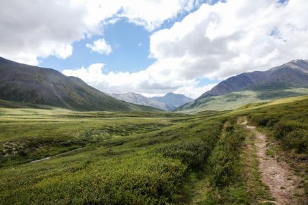 Mountain landscape with scenic valley, Altai, Russia