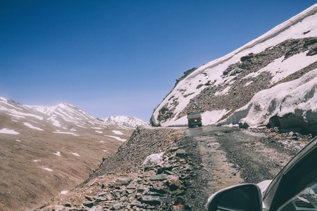beautiful landscape with mountain road in Indian Himalayas, Ladakh region Stock Photo - 114249488