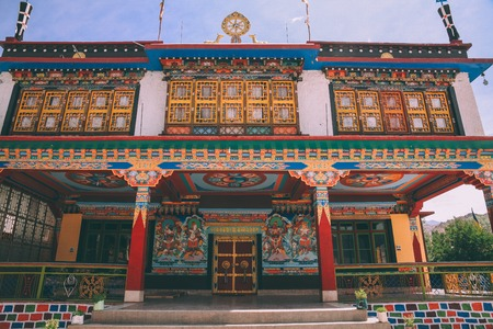 monumental ancient building in Leh city, Indian Himalayas 写真素材