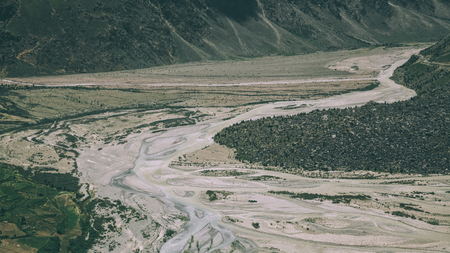 beautiful mountain river in scenic valley in Indian Himalayas, Ladakh region Фото со стока