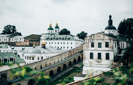 beautiful old buildings of Kiev Pechersk Lavra church, Ukraine