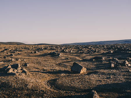 northern landscape with rocks and sand in Iceland 版權商用圖片