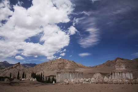 Valley of stupas in Leh, Indian Himalayas 写真素材