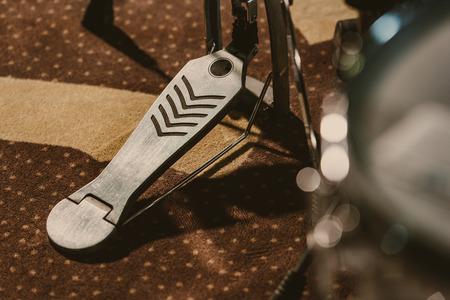 close-up shot of drum pedal on carpet 写真素材 - 114548449