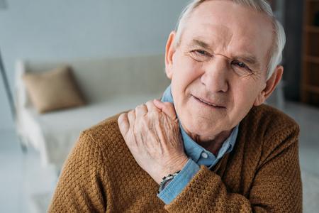 Senior man suffering from back pain Stock fotó