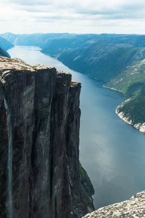 scenic view of majestic scandinavia mountains in Norway