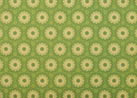 set of beige mandalas on light green Stockfoto