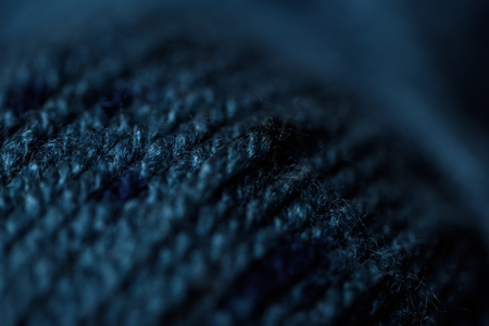 full frame of blue yarn texture as background Фото со стока