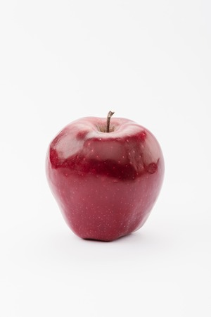 large red delicious apple on white background