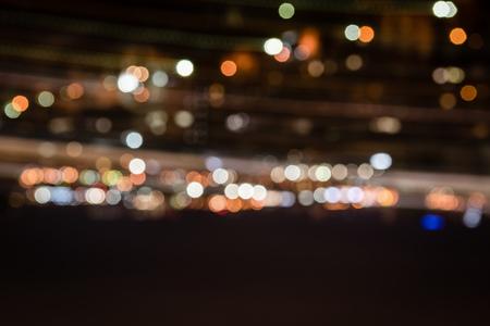 defocused colorful bokeh lights at night 写真素材