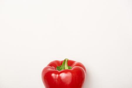 Studio shot of red bell pepper on white background