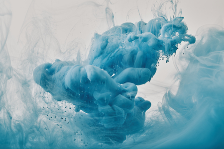 abstract design with blue paint swirls Banque d'images - 116437560