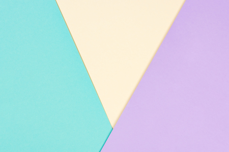 minimalistic modern yellow, blue, and purple abstract background with copy space