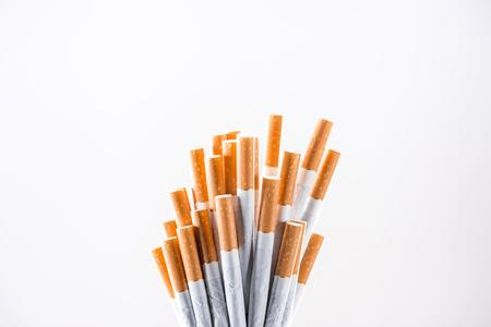 Studio shot of cigarettes isolated on grey Stock Photo