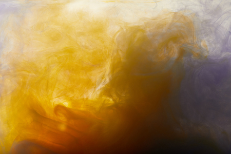 Abstract background with orange paint swirls