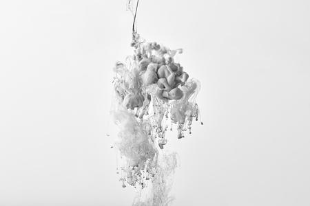 abstract monochrome design with grey paint splash Banco de Imagens