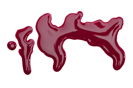 Close up view of burgundy nail polish spills isolated on white 스톡 콘텐츠 - 116388556
